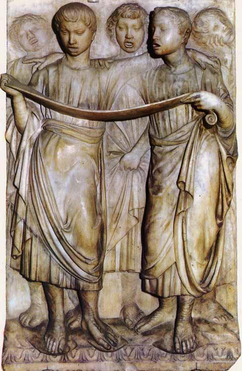 Luca della Robbia: Cantoría de la catedral de Florencia.