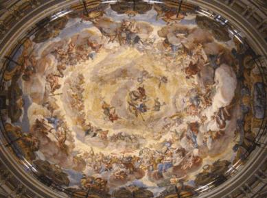Antonio Palomino: Vista general de la cúpula de los Desamparados de Valencia.