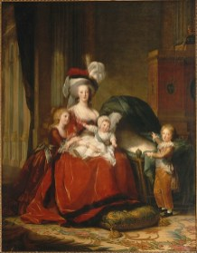 Elisabeth Louise Vigée Le Brun: Retrato de María Antonieta y sus hijos, 1787. Versailles, Chateaux de Versailles et de Trianon.