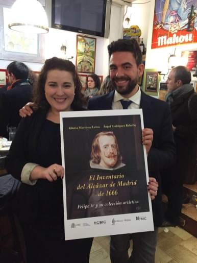 """Los autores de libro """"El Inventario del Alcázar de Madrid de 1666""""."""