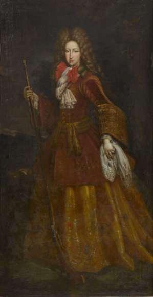 John Closterman: Retrato de Mariana de Neoburgo como cazadora. Colección particular.