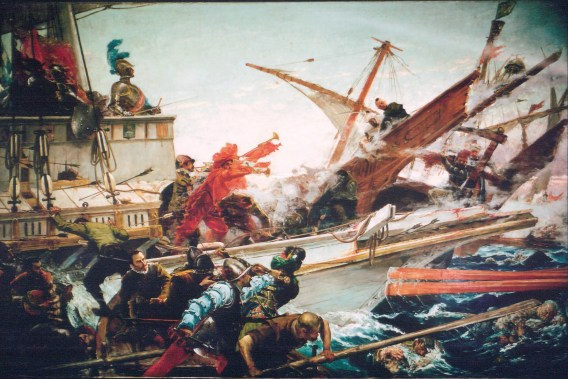 J. Luna: La batalla de Lepanto. 1887. Senado