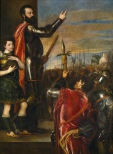 Tiziano: La alocución del Marqués del Vasto. Museo Nacional del Prado.