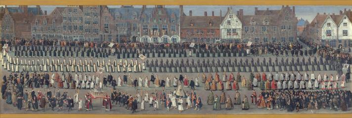 Denis van Alsloot: Fiestas del Ommegang en Bruselas: procesión de Nuestra Señora de Sablón. Madrid, Museo Nacional del Prado.