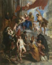 Pedro Pablo Rubens: La Sagrada Familia rodeada de Santos. Madrid, Museo Nacional del Prado.