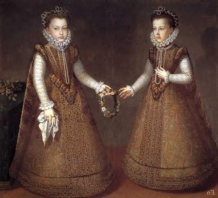Alonso Sánchez Coello: Las infantas Isabel Clara Eugenia y Catalina Micaela. Madrid, Museo Nacional del Prado.