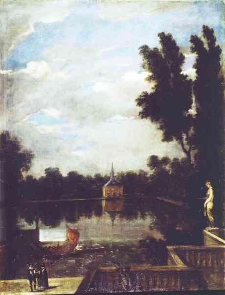 Benito Manuel de Agüero: El estanque grande del Buen Retiro. Madrid, Museo Nacional del Prado.