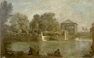 Michel-Ange Houasse: El Jardín de la Isla de Aranjuez, 1720-1724. Madrid, Patrimonio Nacional.