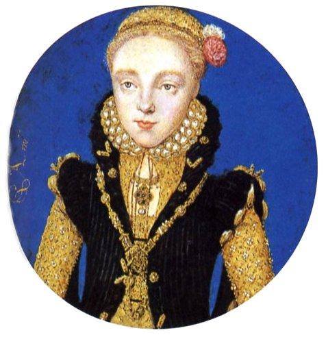 Levina Teerlinc. Retrato de Isabel I de Inglaterra. Miniatura. ca.1565.