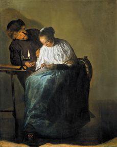 Judith Leyster: Hombre ofreciendo dinero a mujer joven, 1631. Mauritshuis, La Haya.