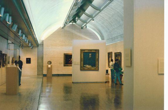 Galería interior del museo Kimbell.