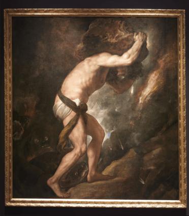 Tiziano: Sísifo. Madrid, Museo Nacional del Prado.