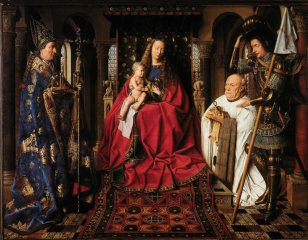 Jan Van Eyck: Virgen del Canónigo Van der Paele.