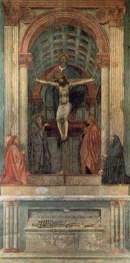 Masaccio: Trinidad, 1425-1428. Iglesia de Santa María la Novella, Florencia.