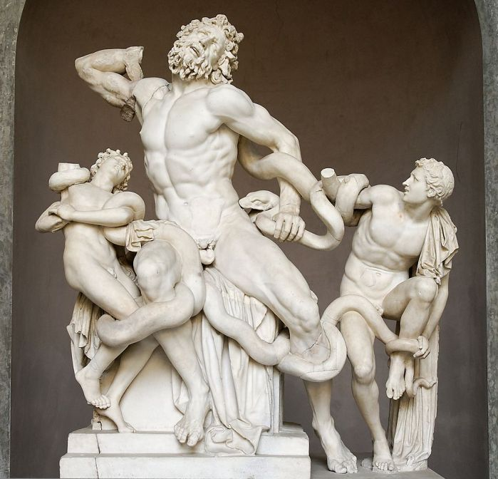 Polidoro Agesandro y Atenodoro de Rodas: Laocoonte y sus hijos. Roma, Museos Vaticanos.