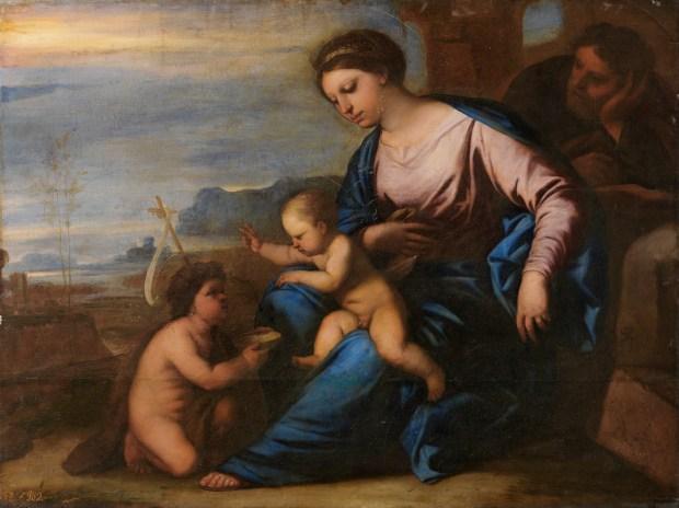 Luca Giordano: Sagrada familia con San Juanito. Museo del Prado.