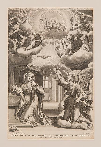 Johann Sadeler, siguiendo a Peter Candid: La Anuncación.