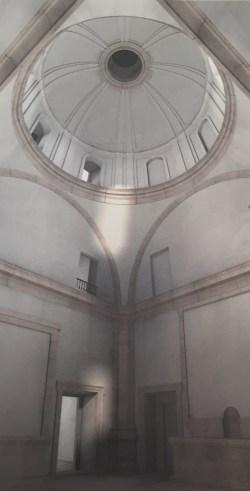 Magoga Piñas: Hipótesis del estado original del interior de la Real Capilla de Aranjuez.