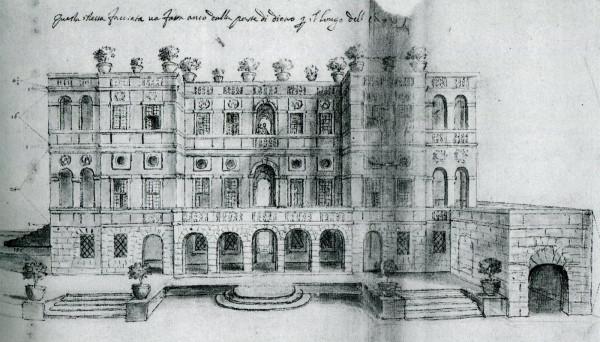 Plautilla Bricci: Proyecto longitudinal para el Vascello. 1663. Roma, Archivio di Stato.