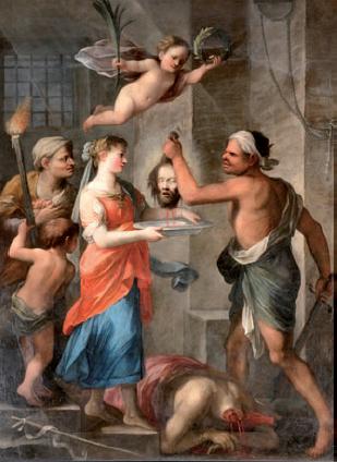 Plautilla Bricci: Salomé recibiendo la cabeza del Bautista. Poggio Mirteto.