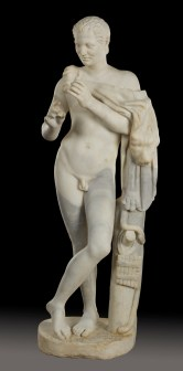Anónimo: Joven Pan con flauta travesera, 130-150 d.c. Madrid, Museo Nacional del Prado.