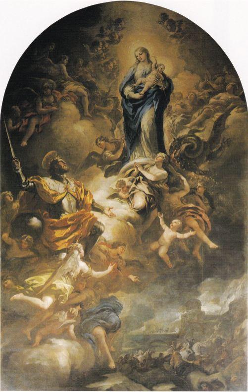 Luca Giordano: San Fernando ante la Virgen. Madrid, Museo de Historia de Madrid.