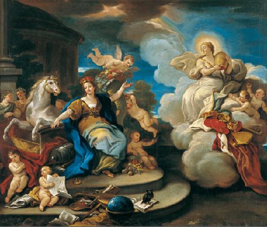 Luca Giordano, copia de: Europa. Fundación Banco Santander.