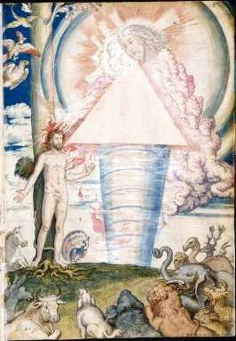 Francisco de Holanda: Creación de Adán. De Aetatibus Mundi Imagines. Madrid. BNE.