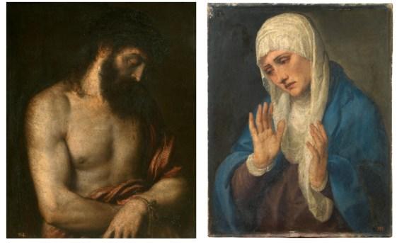 Tiziano: Ecce Homo y Dolorosa. Madrid, Museo Nacional del Prado.