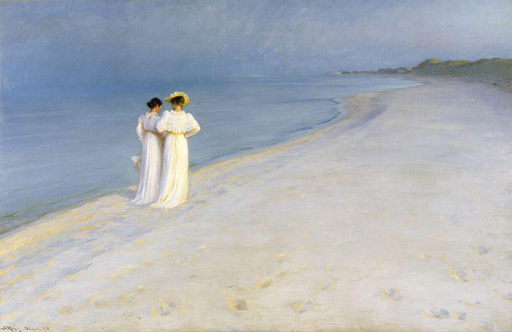 P.S. Krøyer: Tarde de verano en la playa de Skagen, 1893. Skagen Museum. Foto: Wikimedia Commons.