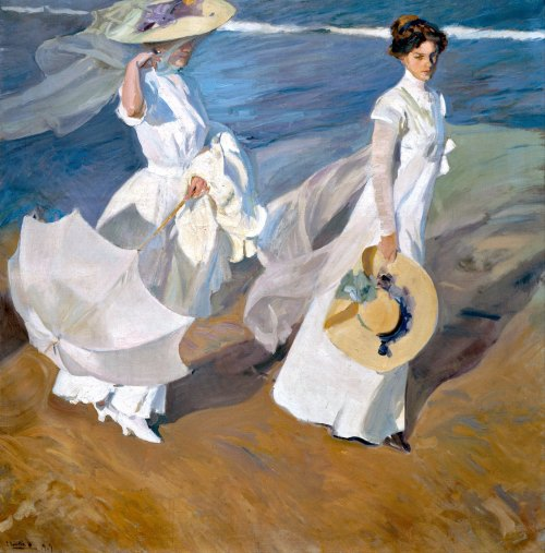 Joaquín Sorolla: Paseo a la orilla del mar, 1909. Madrid, Museo Sorolla. Foto: Wikimedia Commons.