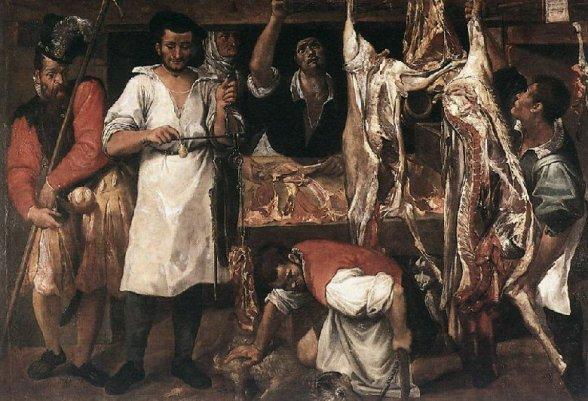 Annibale Carracci. La carnicería (1580), Christ Church Picture Gallery, Oxford. (Foto: wikipedia).