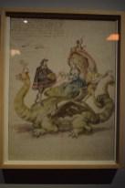 Leonardo Alegre. Tarasca que sale en la procesión del Corpus Christi, 1698. Tinta y aguadas de colores sobre papel. Archivo de la Villa.