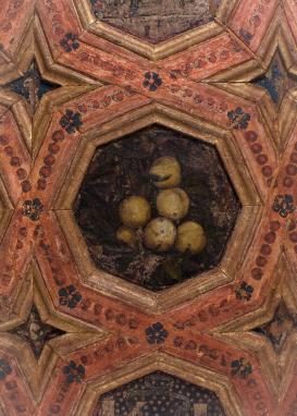 Julio Aquiles y Alejandro Mayner. Frutas (detalle). Sala de las Frutas del palacio de la Alhambra. Foto: Junta de Andalucía.
