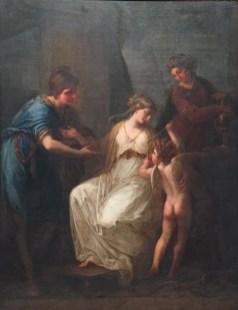 Angelica Kauffman: Paris, Helena y Cupido, 1773. Londres, Colección particular.