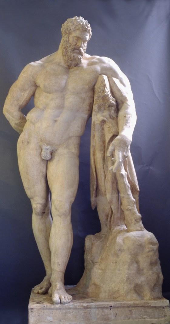 Giovanni Finelli: Hércules Farnese, 1653. Yeso, 318 cm. Madrid, RABASF.