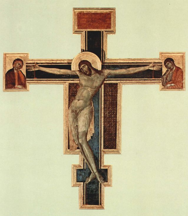 Cristo de Cimabue antes de la inundación de 1966