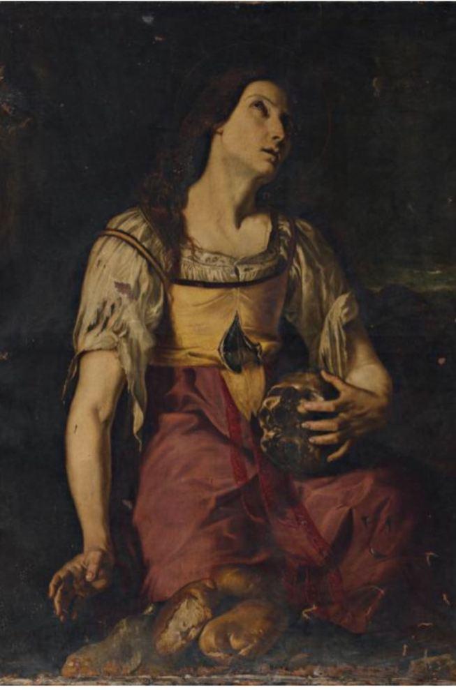 Jerónimo Jacinto de Espinosa: Santa María Egipciaca. Vendido en Subastas Balclis.