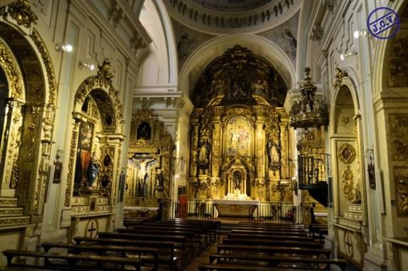 Interior de la iglesia del Convento de las Trinitarias Descalzas de Madrid. Foto: Jesús C.V.
