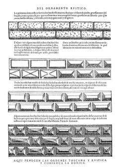 Modelos serlianos para el almohadillado
