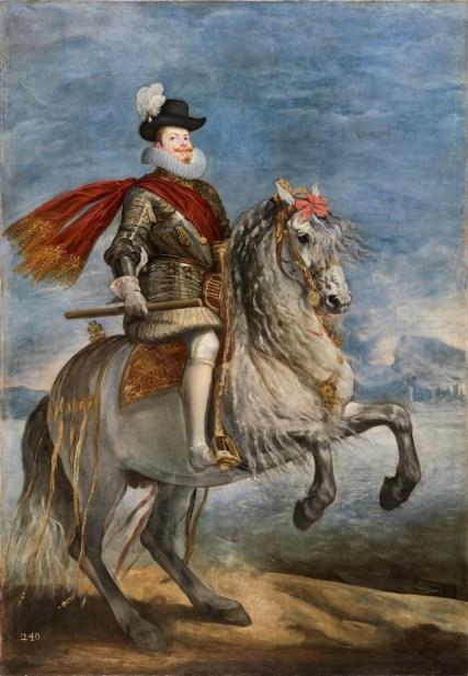 Diego Rodríguez de Silva y Velázquez: Retrato de Felipe III a caballo, 1635. Madrid, Museo Nacional del Prado.
