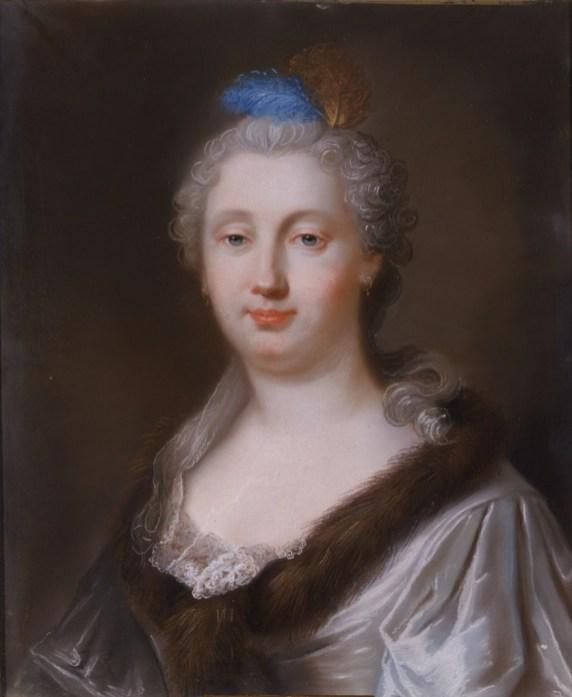 Faraona María Magdalena Olivieri (1725-1762): Autorretrato, 1759, 56x45cm. Madrid, Real Academia de Bellas Artes de San Fernando.
