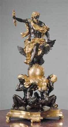 Alessandro Algardi, siguiendo modelos de: Júpiter. Bronce y dorado a molido, 112 cm. París, Musée du Louvre.