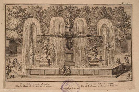 Pieter van den Berge: Fuente de Neptuno en Aranjuez, ca. 1700. Foto: Web Imagen de la Memoria. RSEAPT.