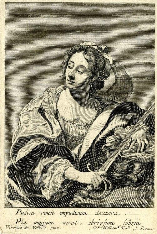 Claude Mellan según Viriginia da Vezzo, Judith y Holofernes. ca. 1626, estampa. Foto: wikipedia.
