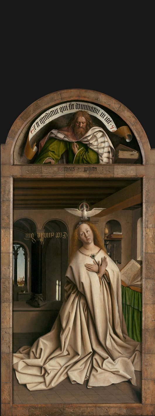 Van Eyck: Virgen de la Anunciación