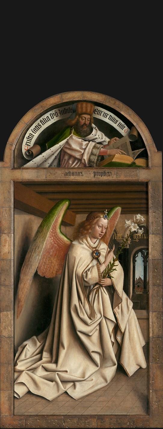 VAn Eyck: Ángel de la Anunciación