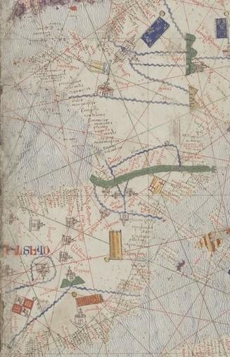 Detalle del Atlas catalán, ca. 1375, BNF esp. 30