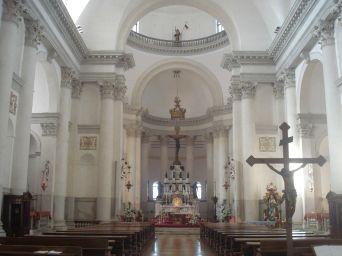 Andrea Palladio: Interior del Redentor. Venecia. Foto: wikipedia.
