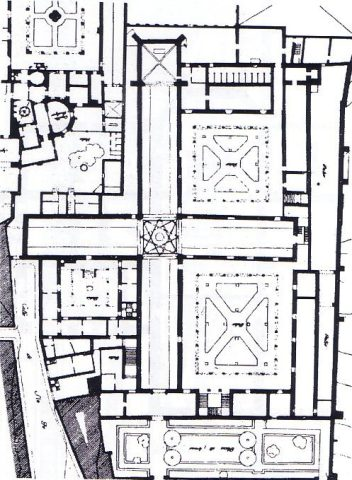 Planta del Hospital de Santa Cruz de Toledo (Wikimedia: domino público)